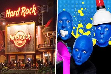 Blue Man Group & Hard Rock Cafe Combo