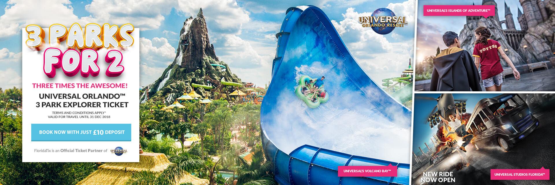 Universal 3 Parks for 2 Offer
