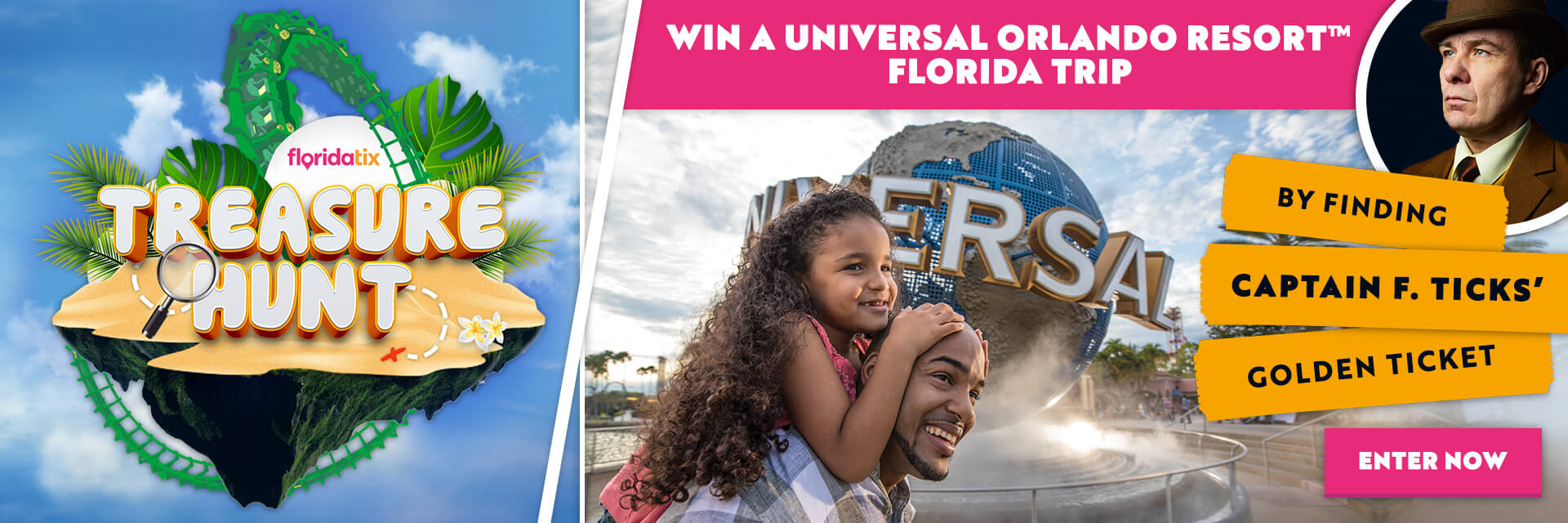 Universal Treasure Hunt WIN a Universal Orlando resort trip.