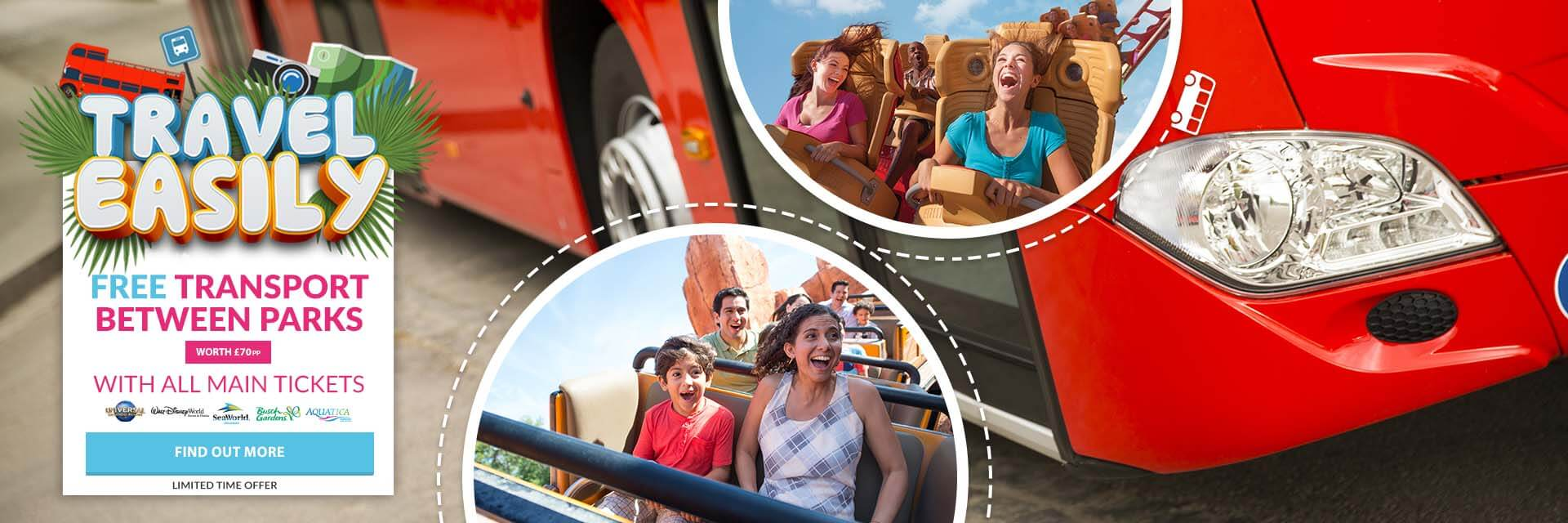 FREE Theme Park Shuttle Express with select park tickets