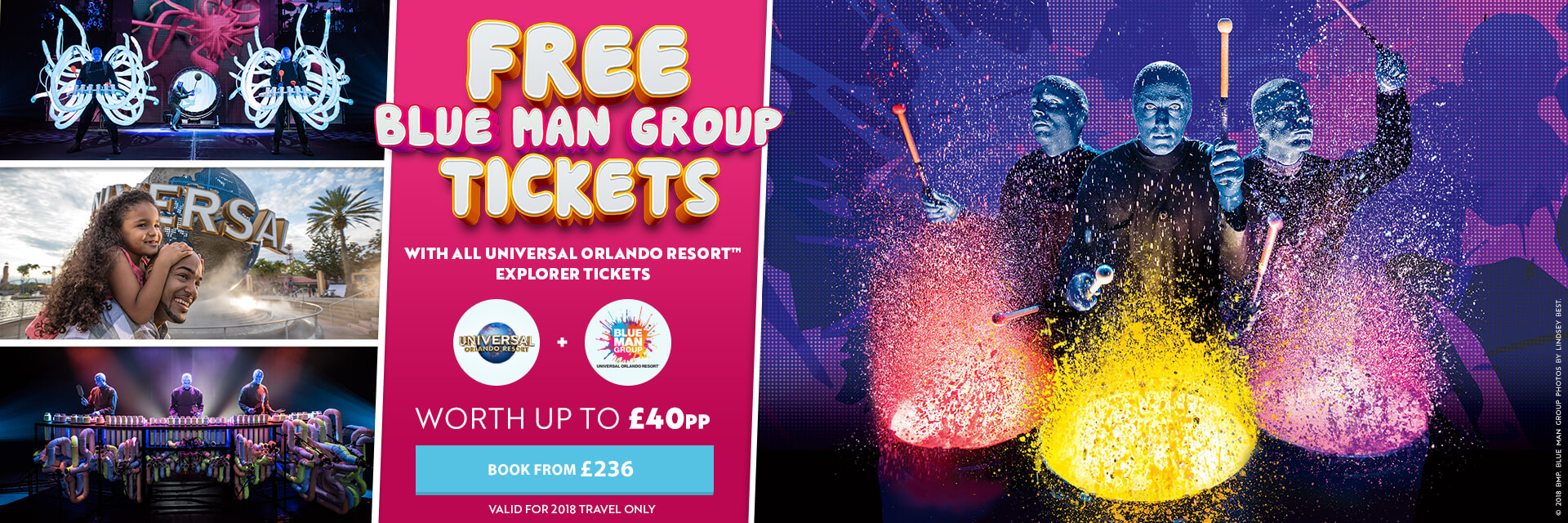 Universal Orlando Free Blue Man Group Offer