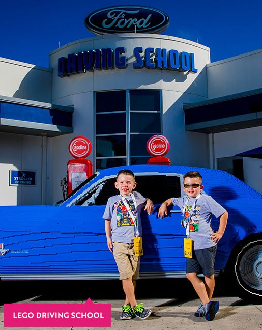 Boy driving a toy car at Legoland Florida