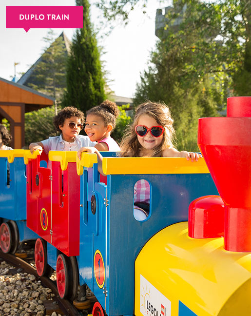 Family at Legoland Florida Duplo Valley