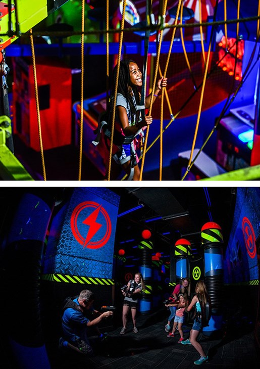 Rope Course and Laser Tag