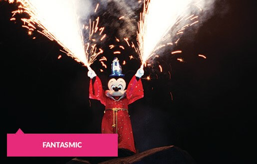 Mickey during Fantasmic performance
