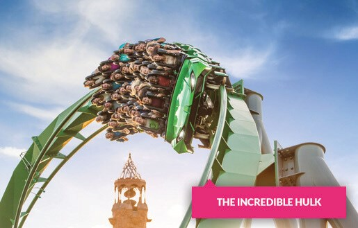 The Incredible Hulk ride at Universal's Island of Adventure