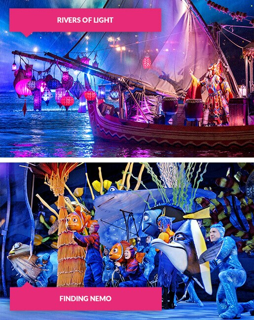 Rivers of Light and Finding Nemo shows at Animal Kingdom