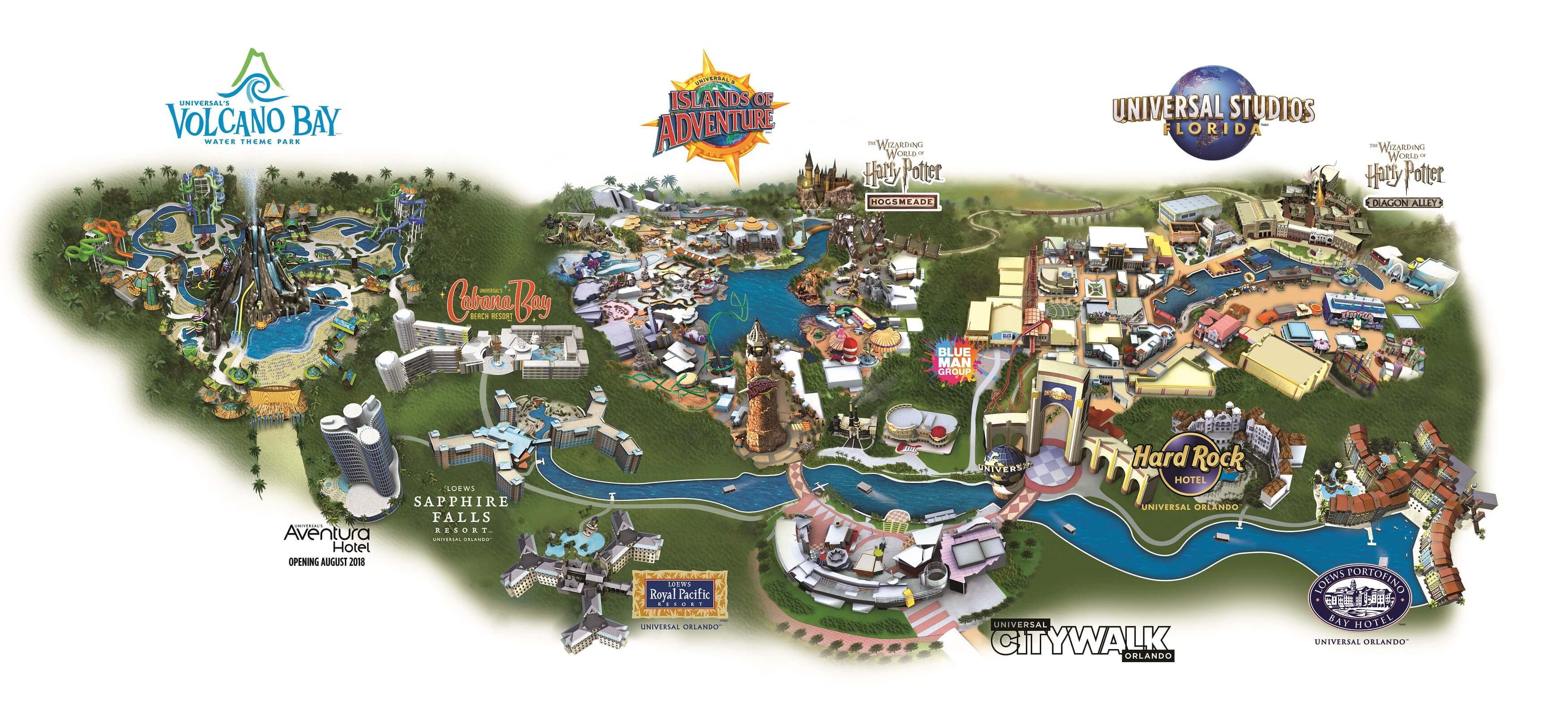 Map of Universal Orlando Resort