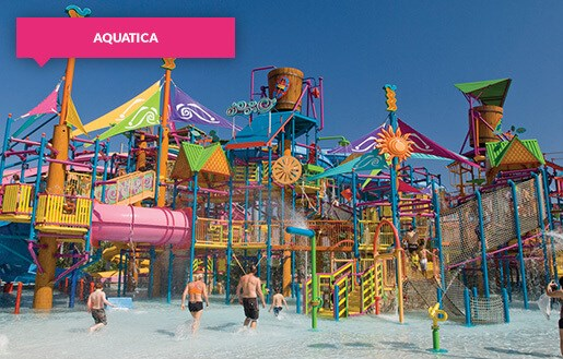 Colourful play area at Aquatica