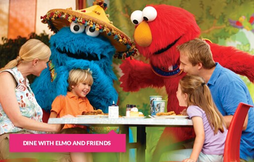 Dining with Elmo and friends