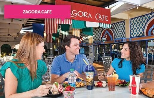 Dining at Zagora Café