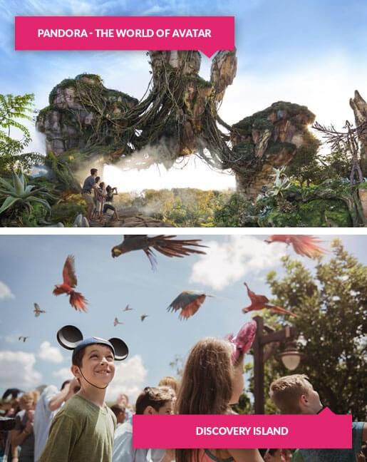 Pandora and Discovery Island