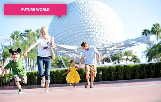 Family at Epcot Future World