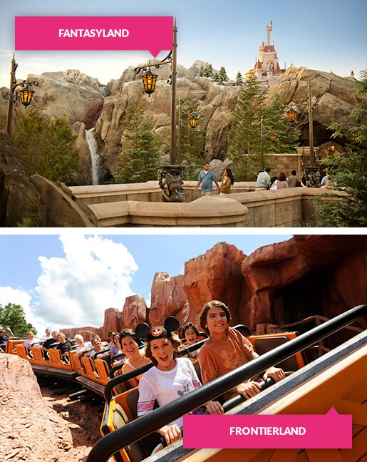 Fantasyland and Frontierland