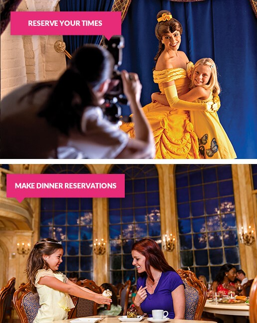 Meet Disney Characters and dine at Disney World